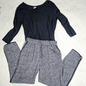 Cynthia Rowley Pattern Pants Size Medium